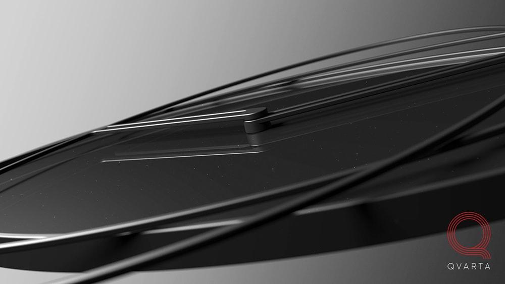 Разработка дизайна настенных часов Bro`clock от студии промдизайна и конструкторского бюро Qvarta. Вид сбоку.