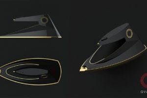 Дизайнерский утюг разработанный студией промдизайна Qvarta. Вид полностью со всех сторон.