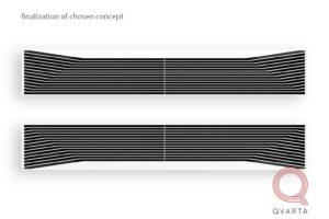 Дизайн УФ лампы UV-BLAZE. Вид спереди.