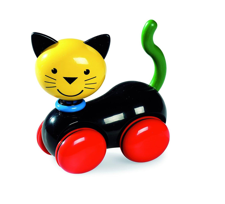 Игрушка - кот на колесиках.