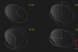 Дизайн настенных часов Bro`clock. Вид в разное время.