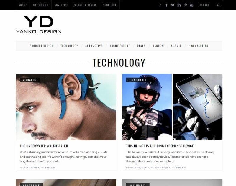 Публикация статьи о рации SeaVoice на Yanko Design.
