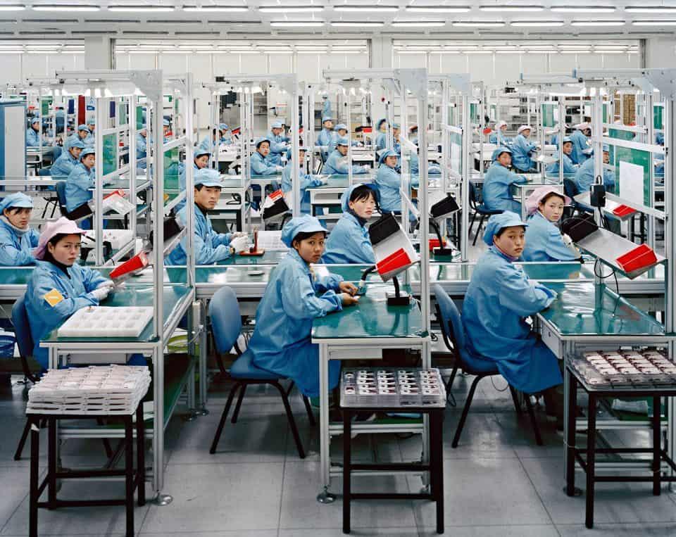 Фото процесса серийного производства в Китае.