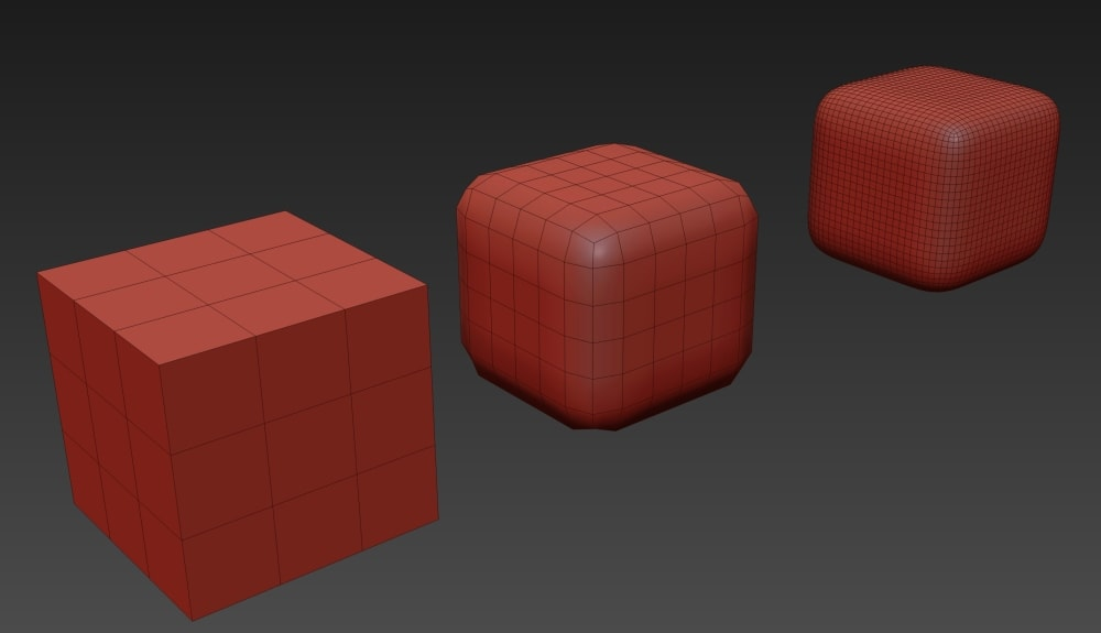 Способ HARD SURFACE. Создание 3d моделей кубов.