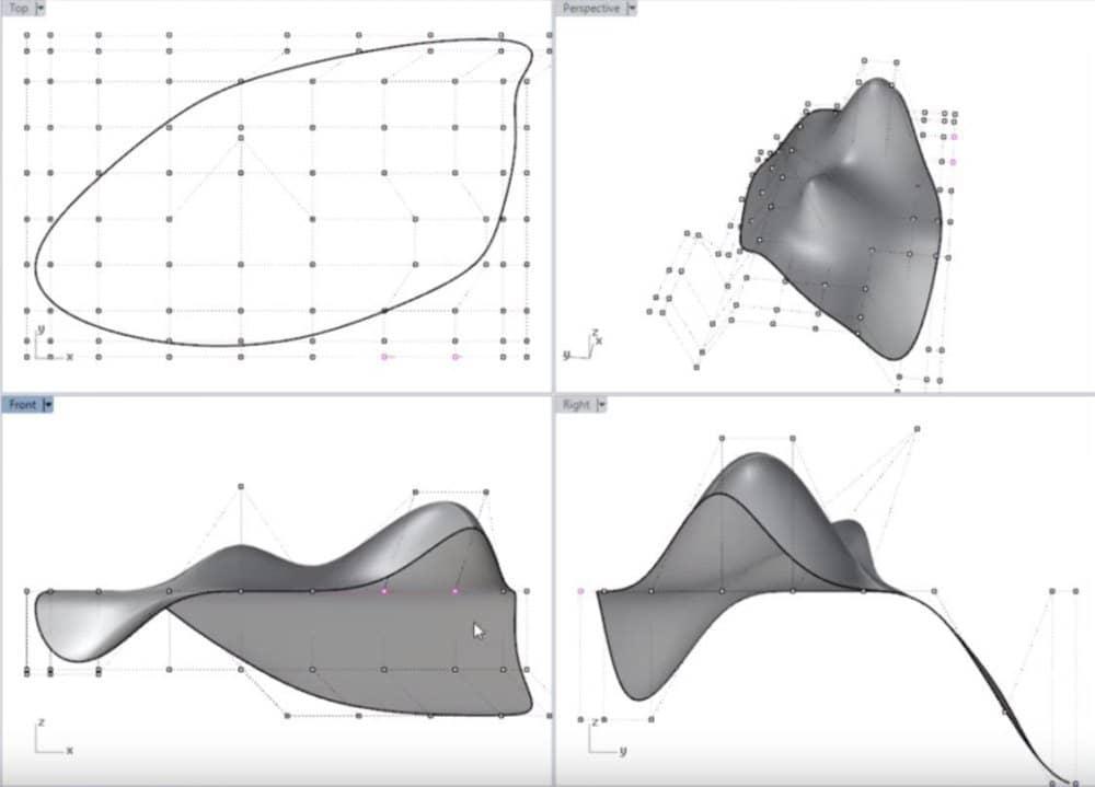 3d моделирование по математическим формулам неровностей.