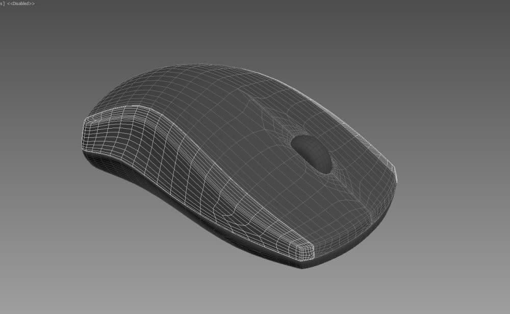 Построение модели компьютерной мышки полигонами.