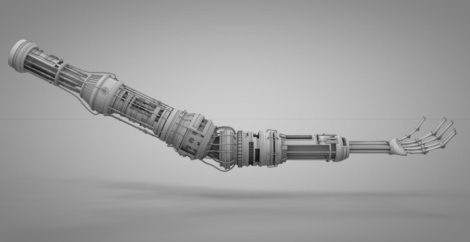 3d модель руки.