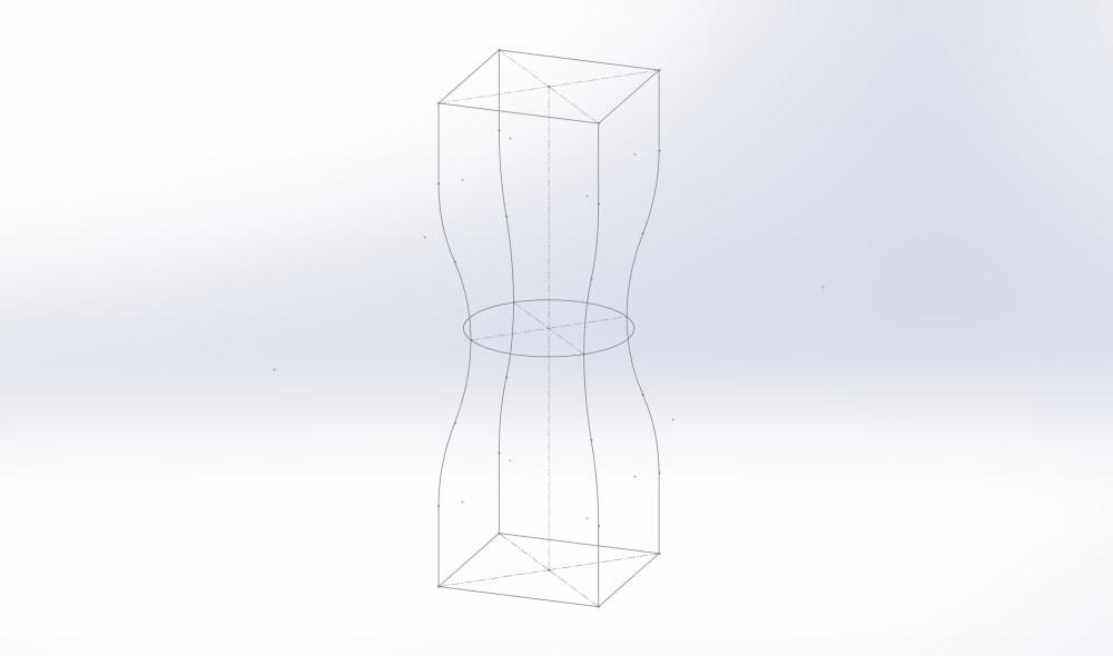 Создание 3D-модели с помощью трехмерных кривых.
