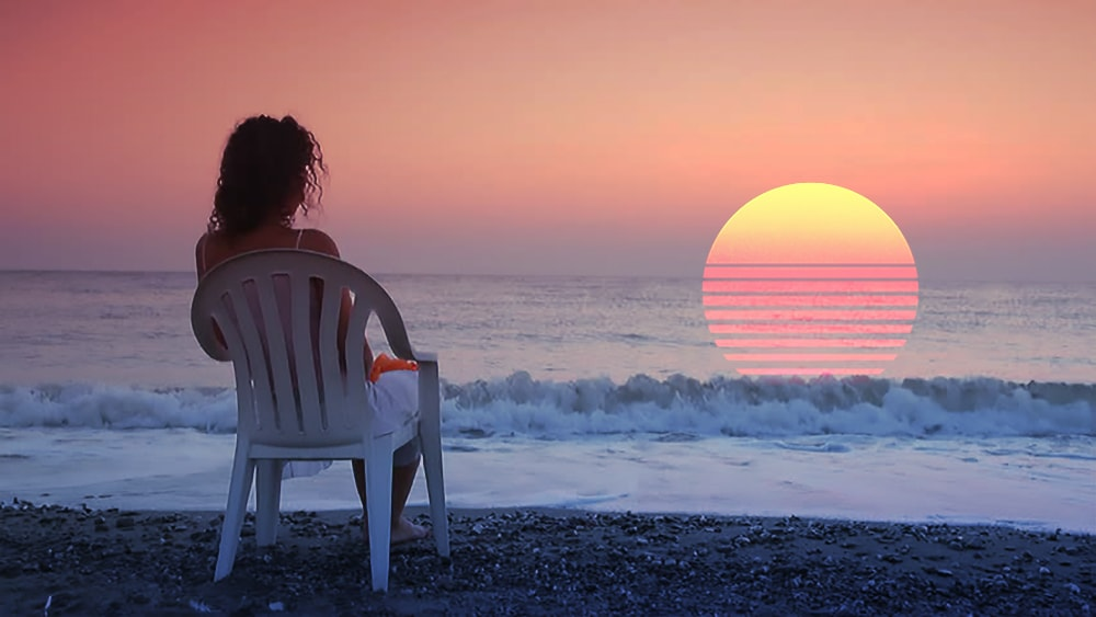 Девушка на берегу. Визуализация.