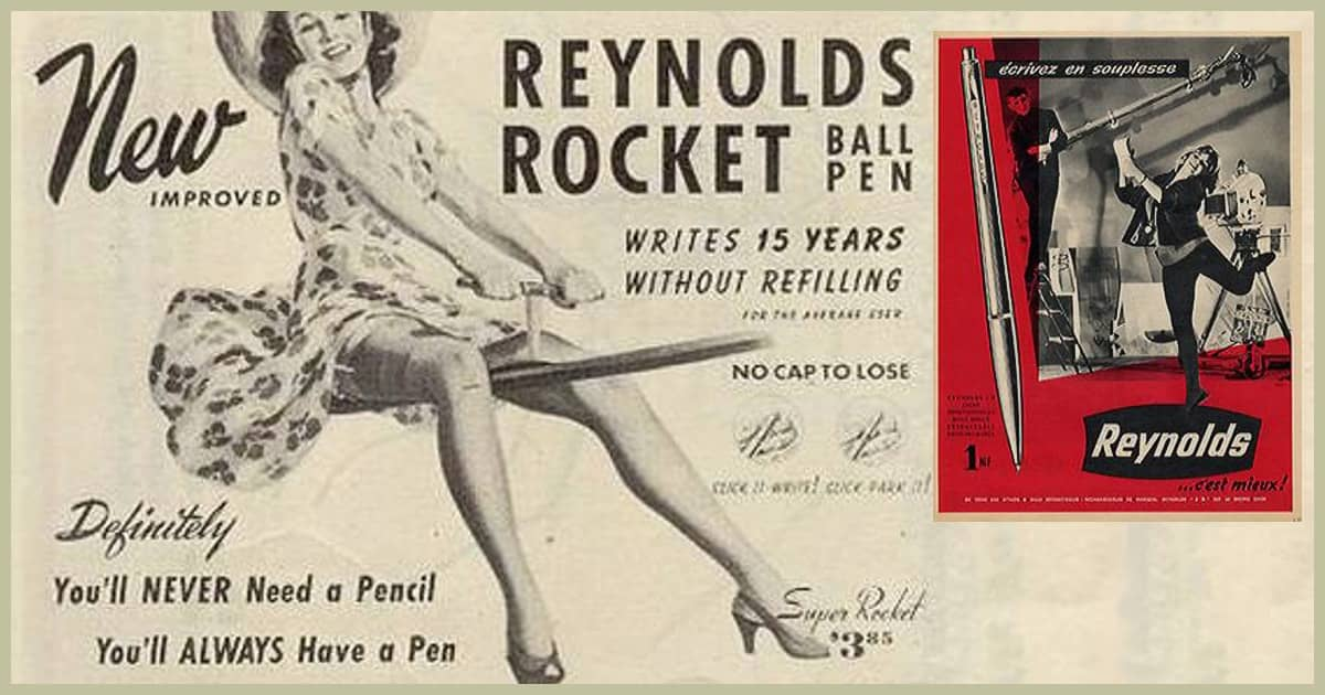 Дизайн рекламного плаката для ручки Reynolds.
