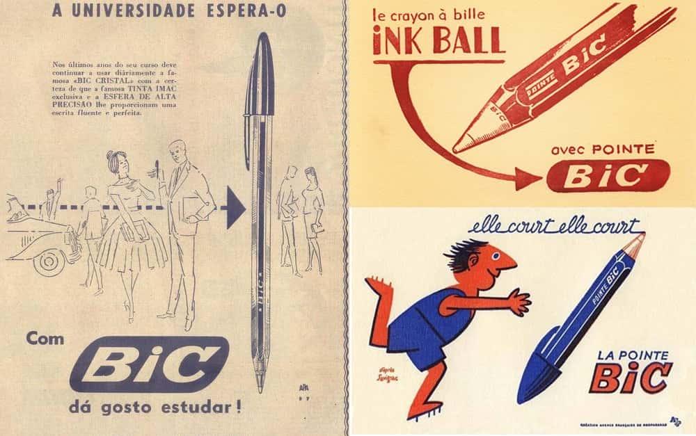 Дизайн рекламного плаката для ручки BIC.