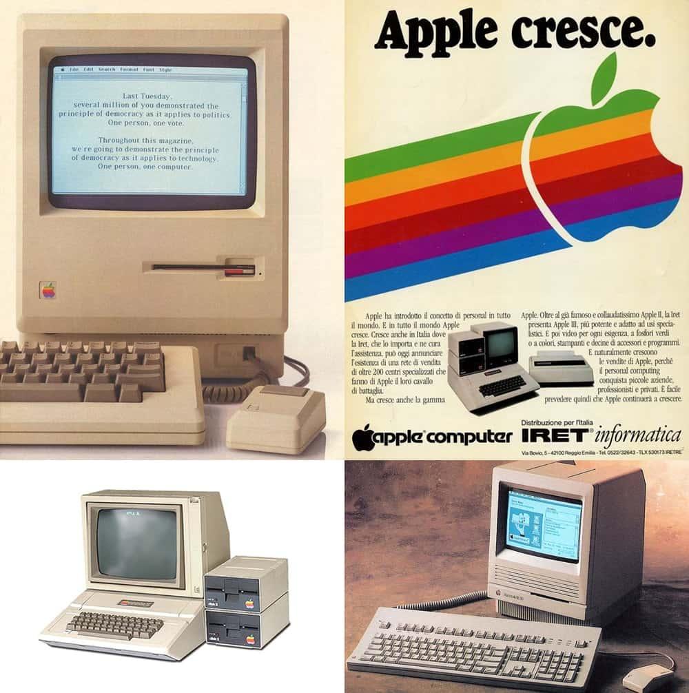 Колаж с изображениями Apple MAC.