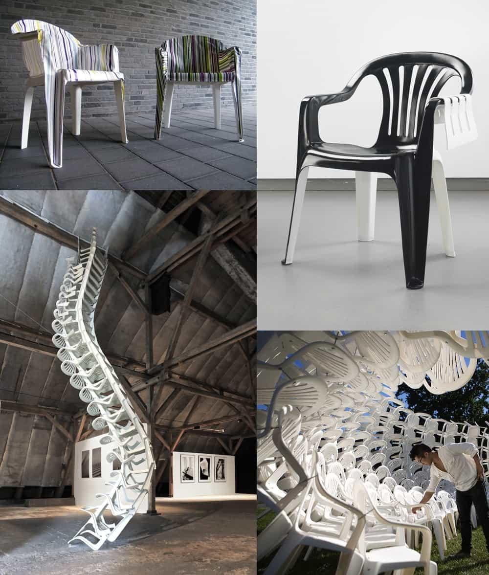 Сравнение дизайна разных стульев.