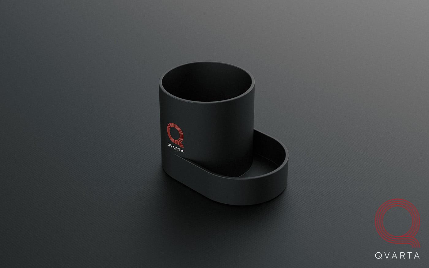 Подставка-органайзер для пишущих принадлежностей с лого Qvarta.