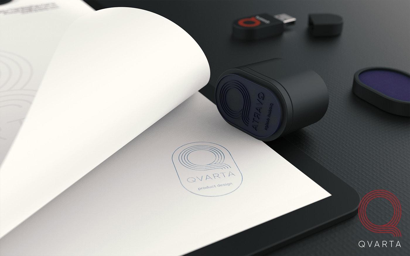 Мокрая печать с лого Qvarta.