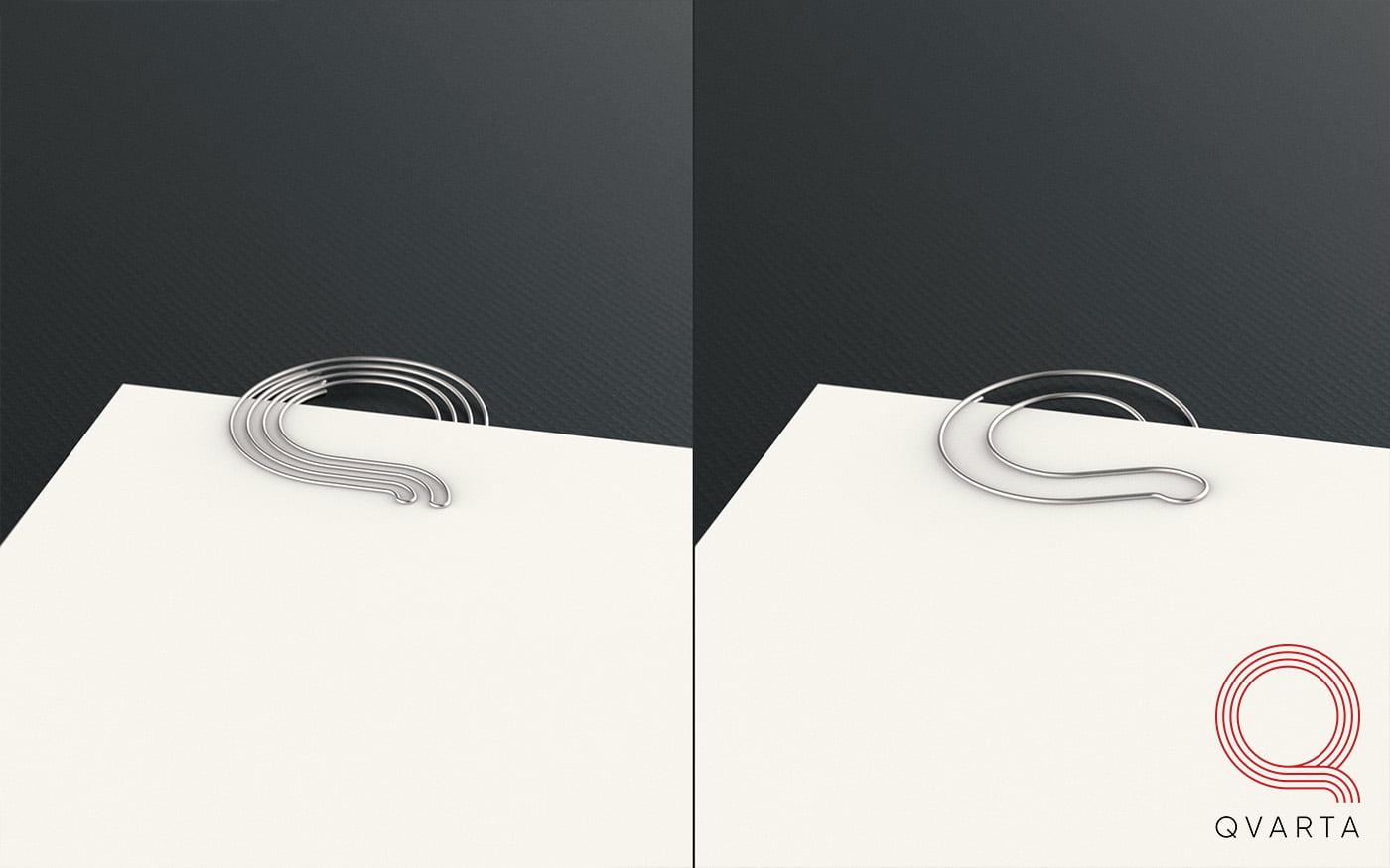Скрепки с дизайном от Qvarta на столе.