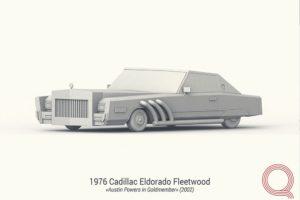 3d моделирование машины Cadillac Eldorado.
