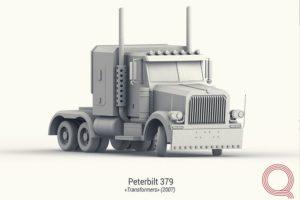 3d моделирование машины Peterbilt.