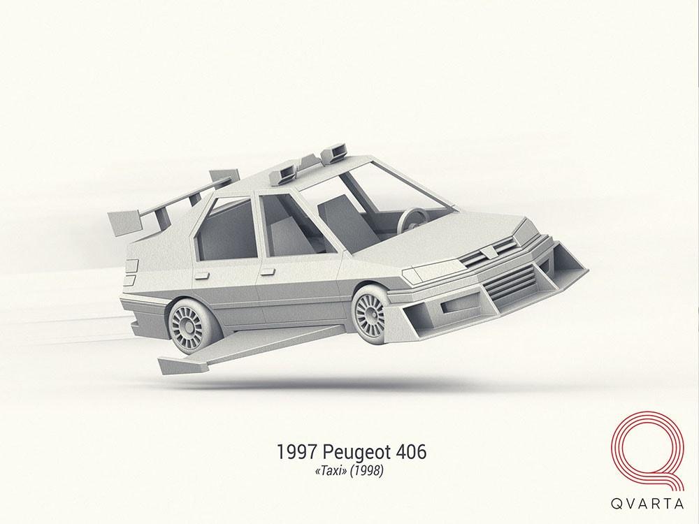 Концепт дизайн легендарных автомобилей из кино
