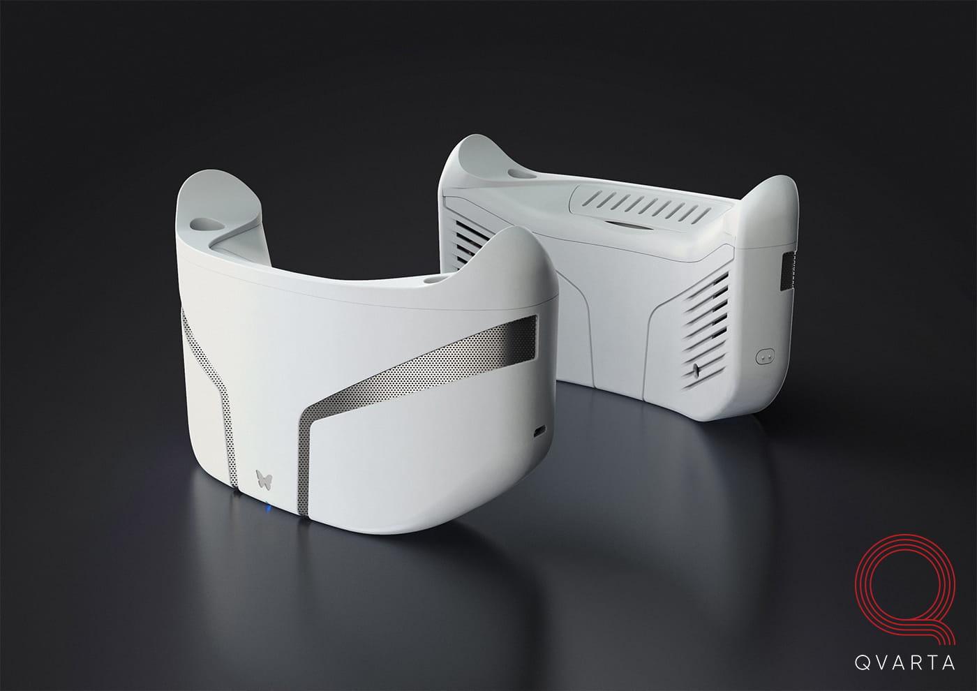 Белые VR очки.