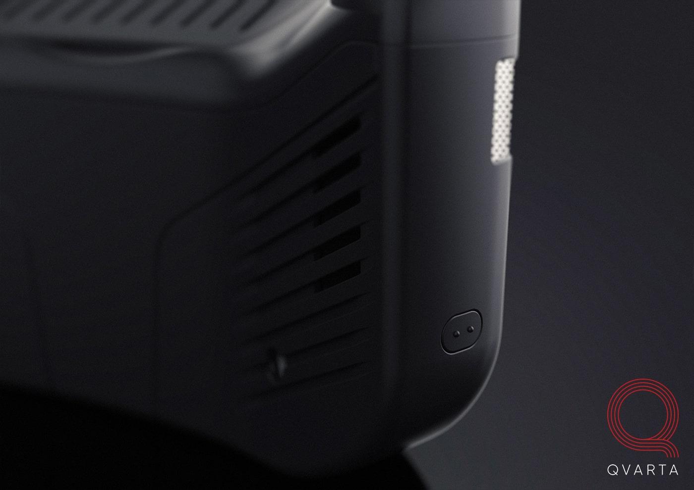 VR очки в черном цвете c лого Qvara.