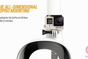 Маска для снорклинга с камерой GoPro.