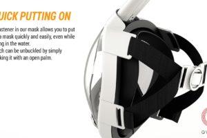 Изображение маски для снорклинга, внутренняя сторона.