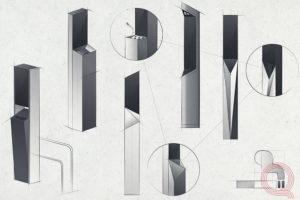 """Проектирование дизайна уличной """"смарт - пепельницы"""" Qvarta."""