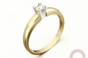 Фото кольца с лого вид сбоку Qvarta.