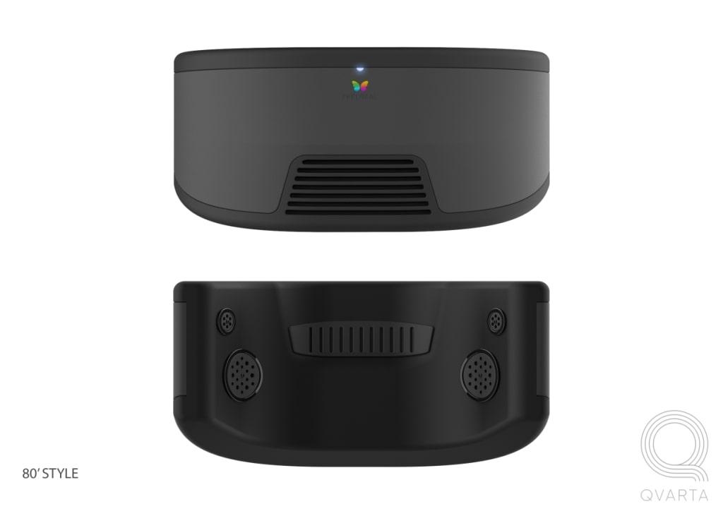 VR очки в черном цвете.