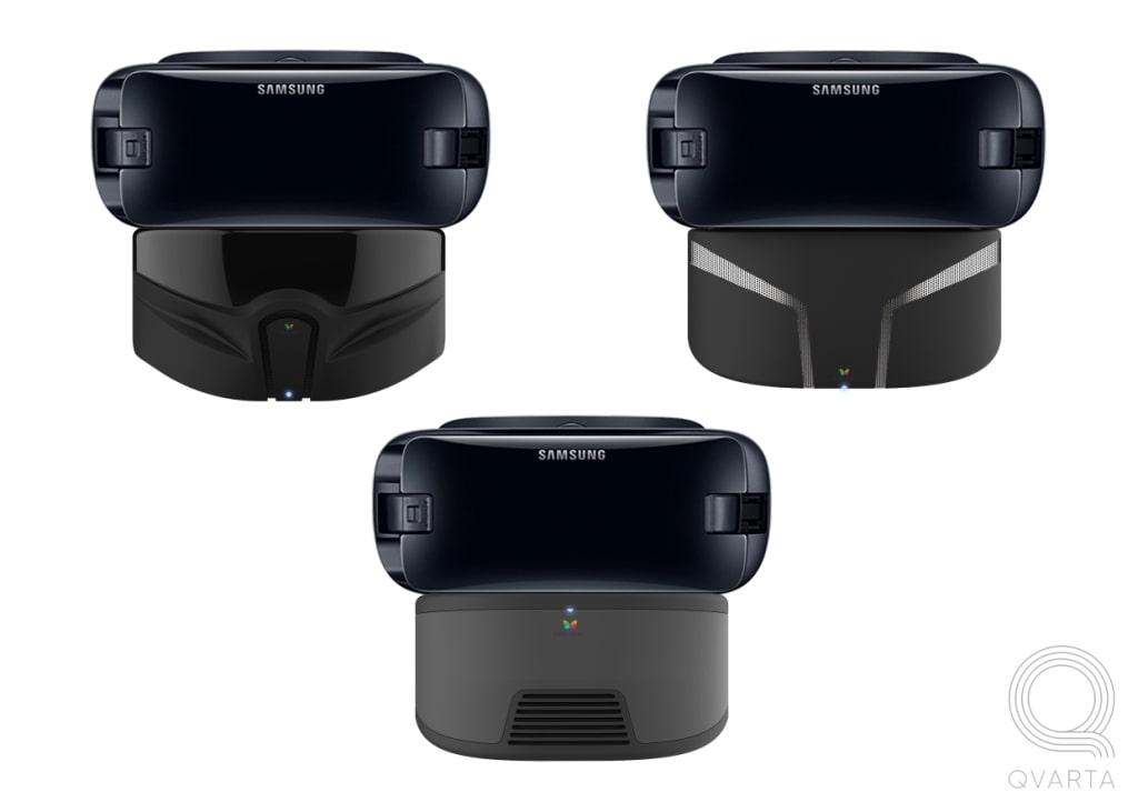 Черные VR очки.